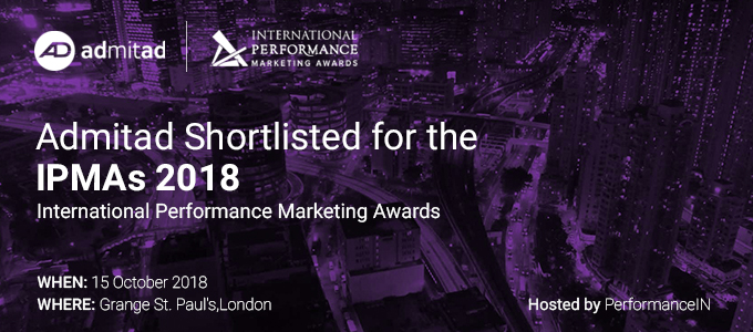 баннер Admitad Shortlisted for the IPMAs